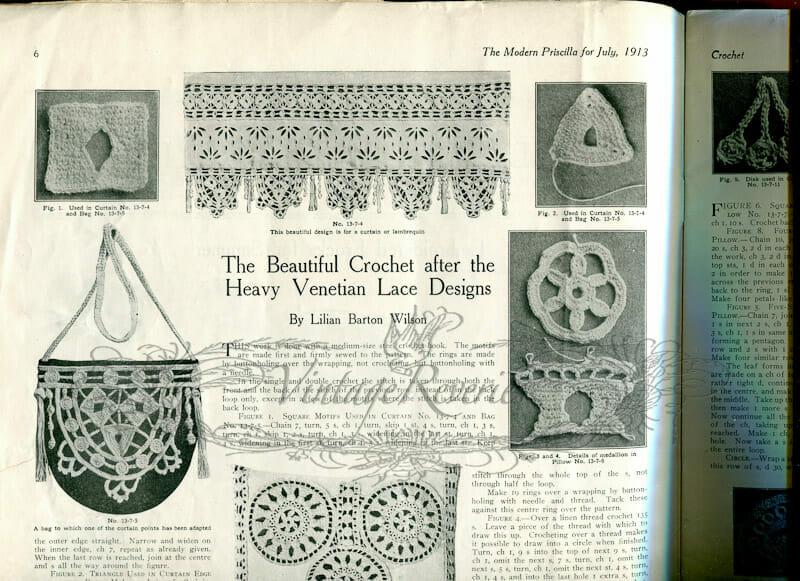 free venetian lace making pattern