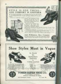 high heels advertisement 1920s
