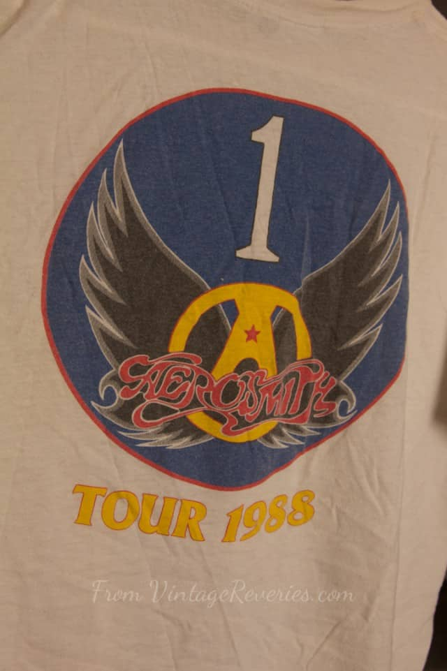 SOLD- 1988 Aerosmith Aeroforce One T-shirt – Permanent Vacation Tour – Rare XL