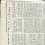 How one woman made a success at dress making and Summer Recipes