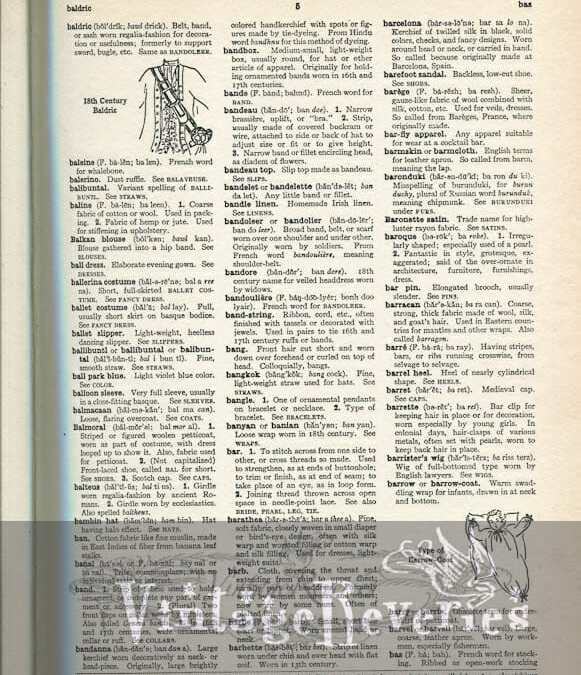 The Language of Fashion: Dictionary scans aal through blotch
