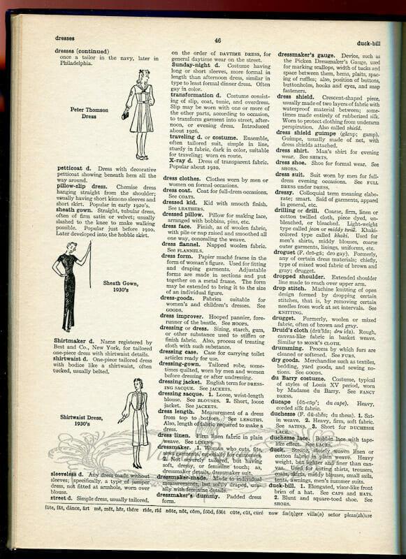 fashion history dictionary