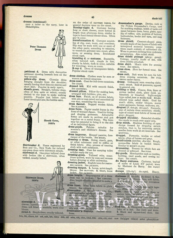 fashion history dictionary