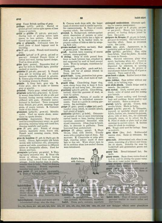 fashion dictionary scan