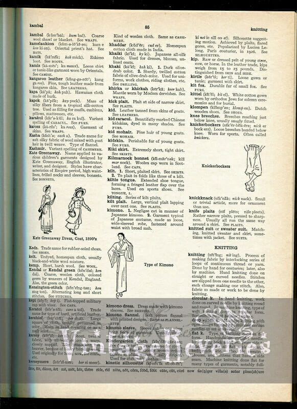 lace dictionary