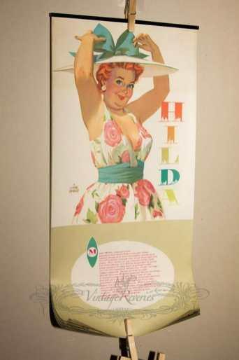 1950s pinup calendar