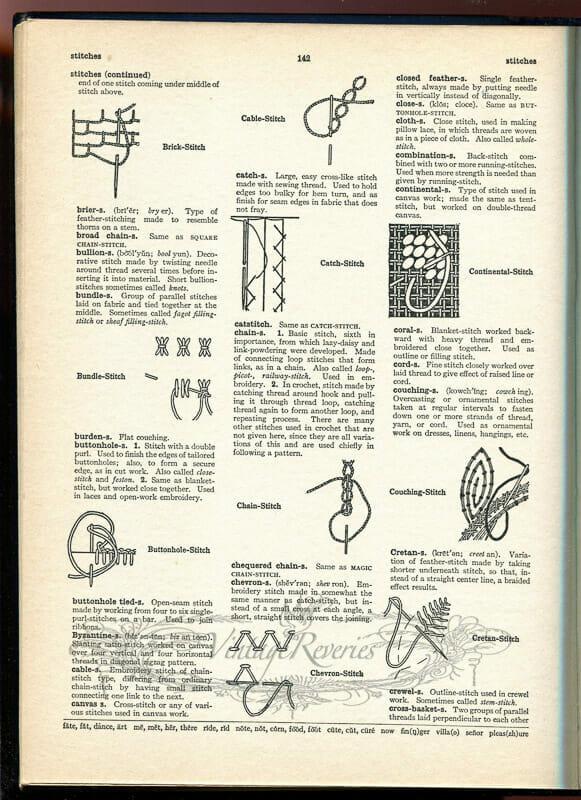 types of decorative stitching