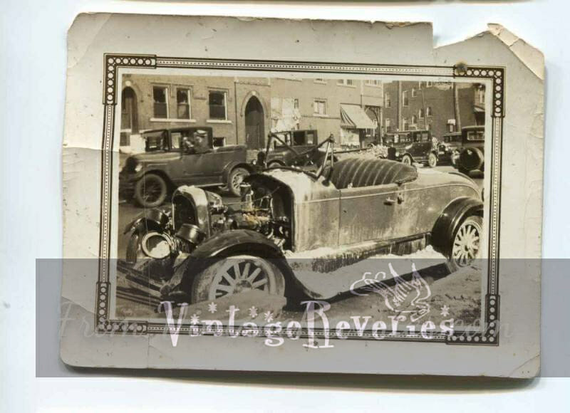 damaged car 1927 St. Louis tornado