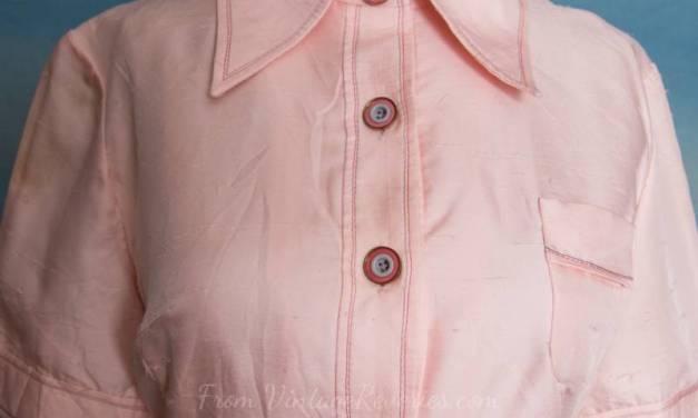 Sporty pink button up German label dress – BBW – L – XL sized