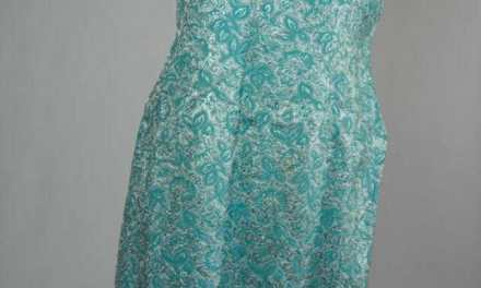 Metallic Blue Shiny Vintage Cocktail Dress – 1960s Valerie label