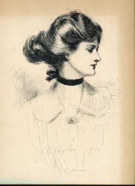 Gibson Girl Illustration