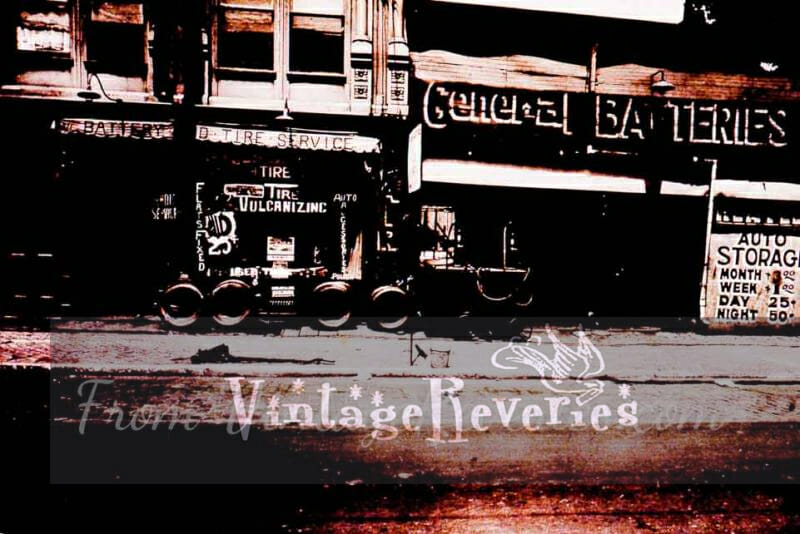 1930s tire vulcanization service