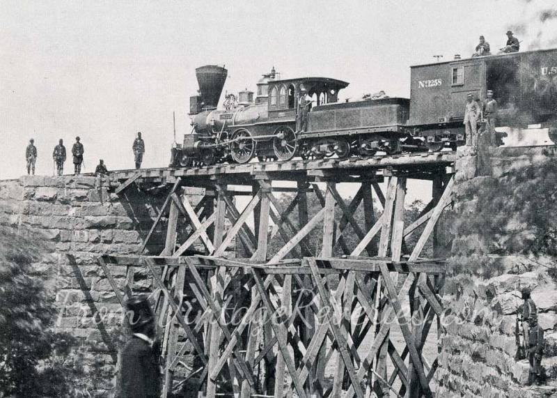 Civil war steam train photo