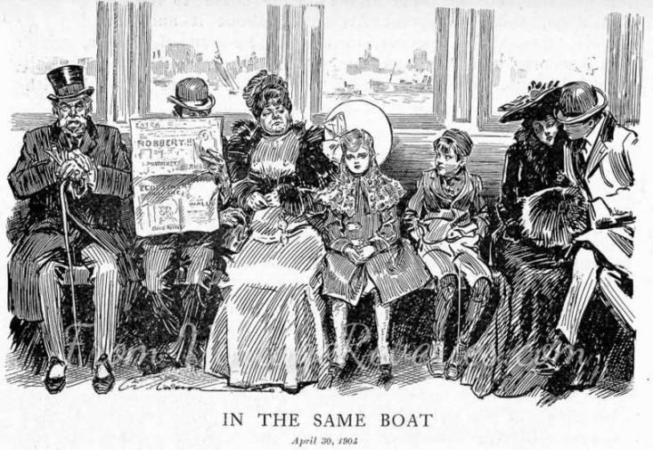 boat passengers sketch