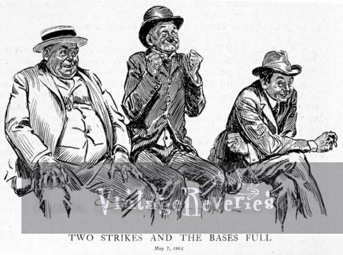 men watching baseball cartoon