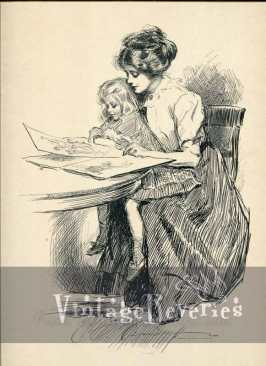 no time for politics gibson girl print