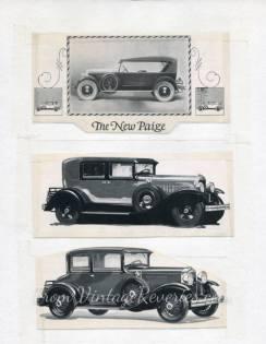 paige car ads