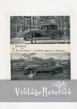 touring or detouring old car ad