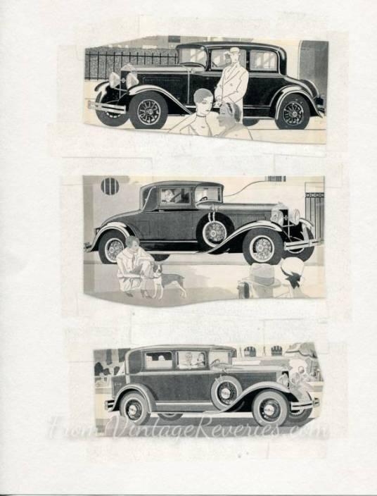 1920s car ads