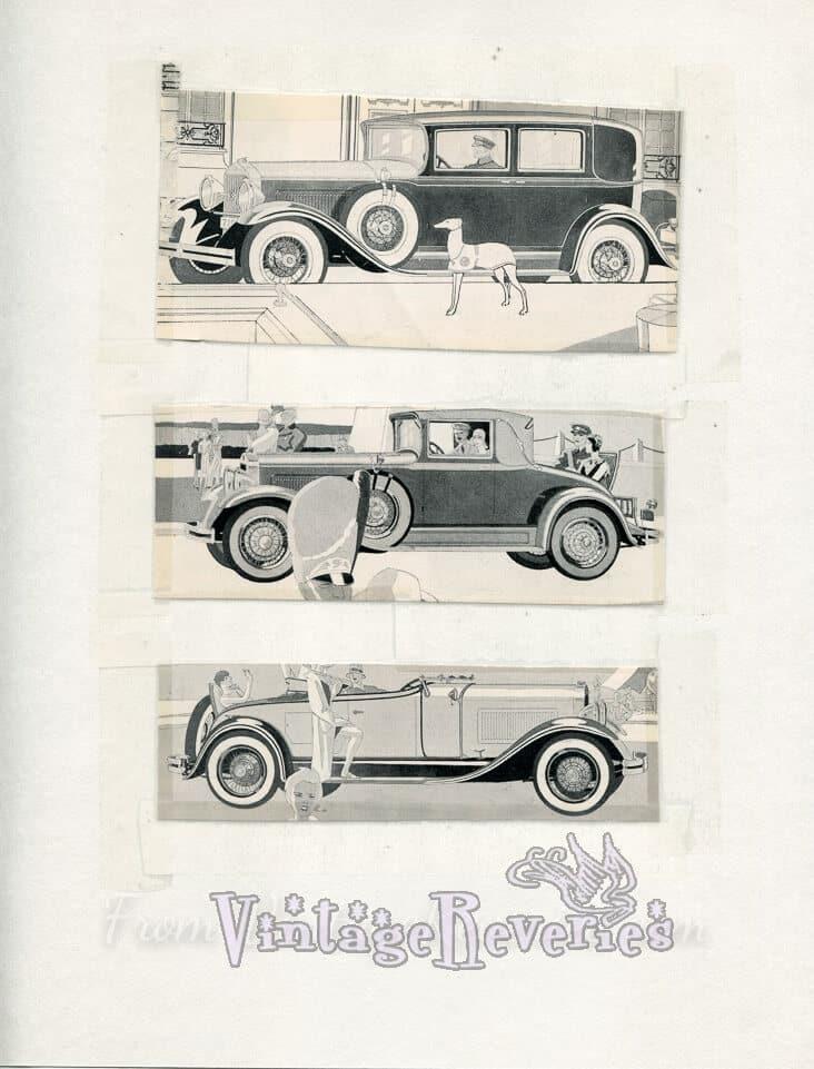 1920s Studebaker, Rauch & Lang, Pierce-Arrow, and Reo motor car advertisements