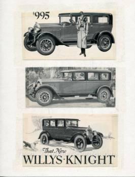 willys knight car ad