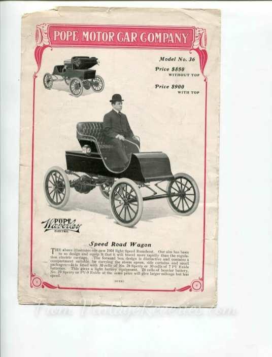 1904 electric car