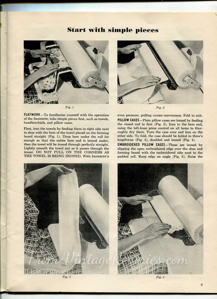 How to use an IronRite Ironing Machine