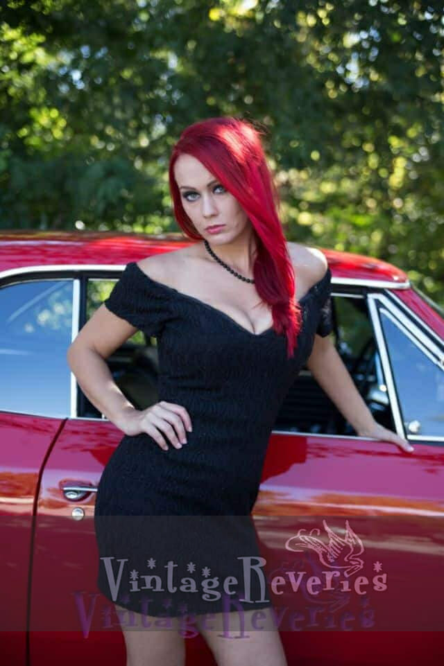 redhead pinup model