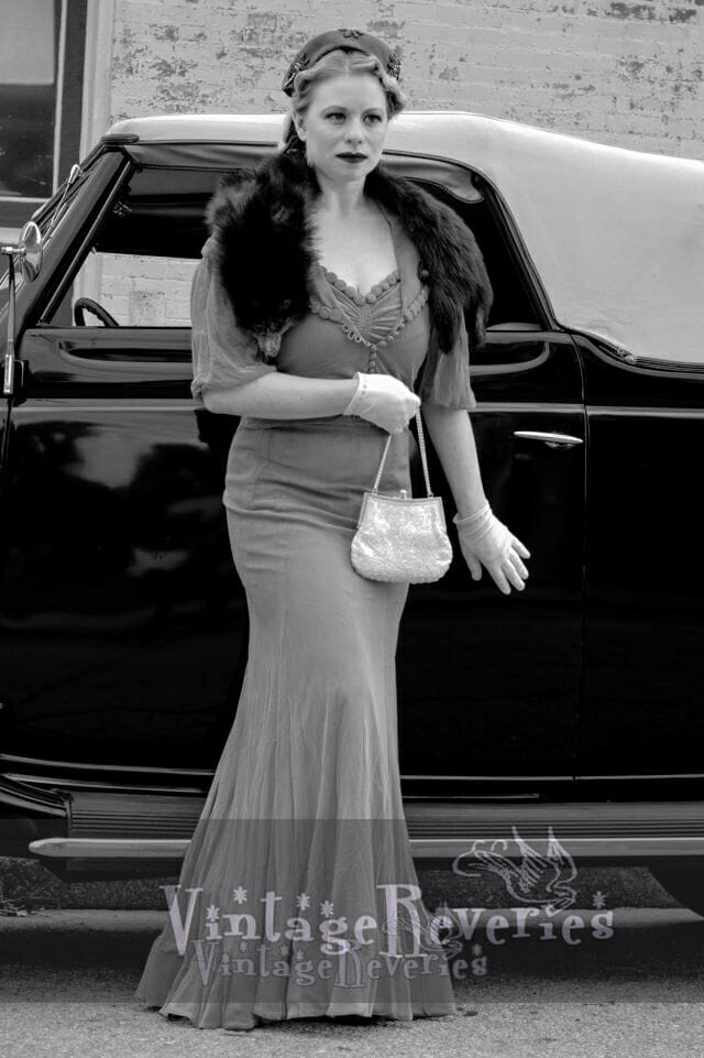 old hollywood style photography with vintage car
