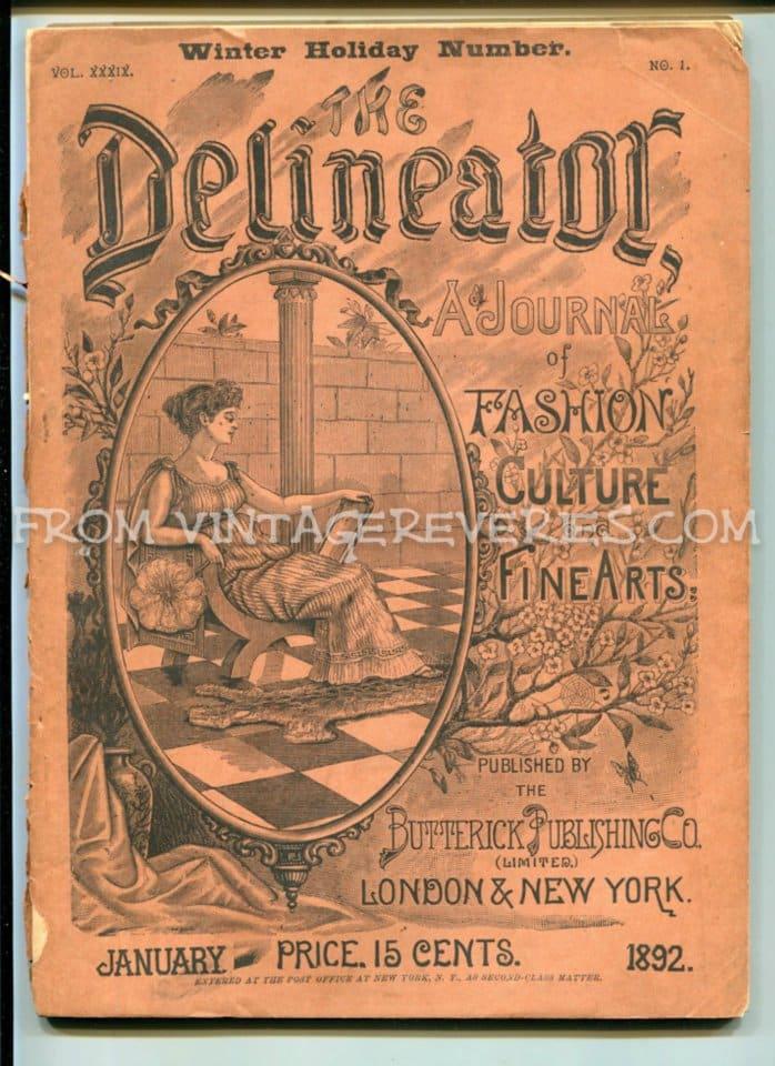 Winter 1892 Delineator Magazine cover