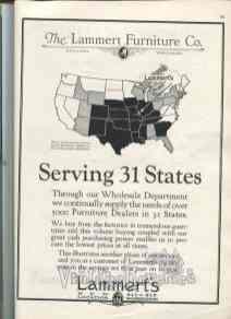 1920s Lammerts Furniture advertisement