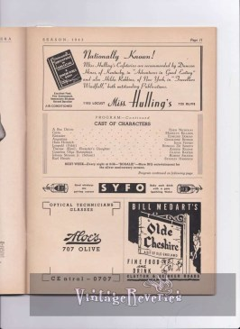 WWII St. Louis restaurants advertisements