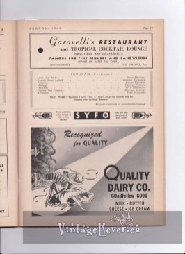 1940s theater program