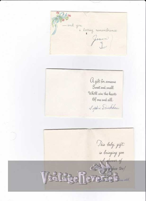 vintage baby shower messages and rhymes