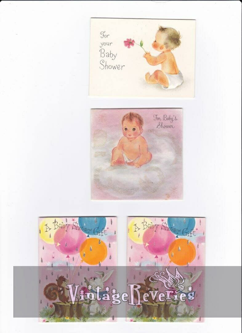 baby shower card scans early 1960s