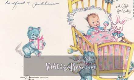 9 Vintage Baby Shower Cards from the 1960s