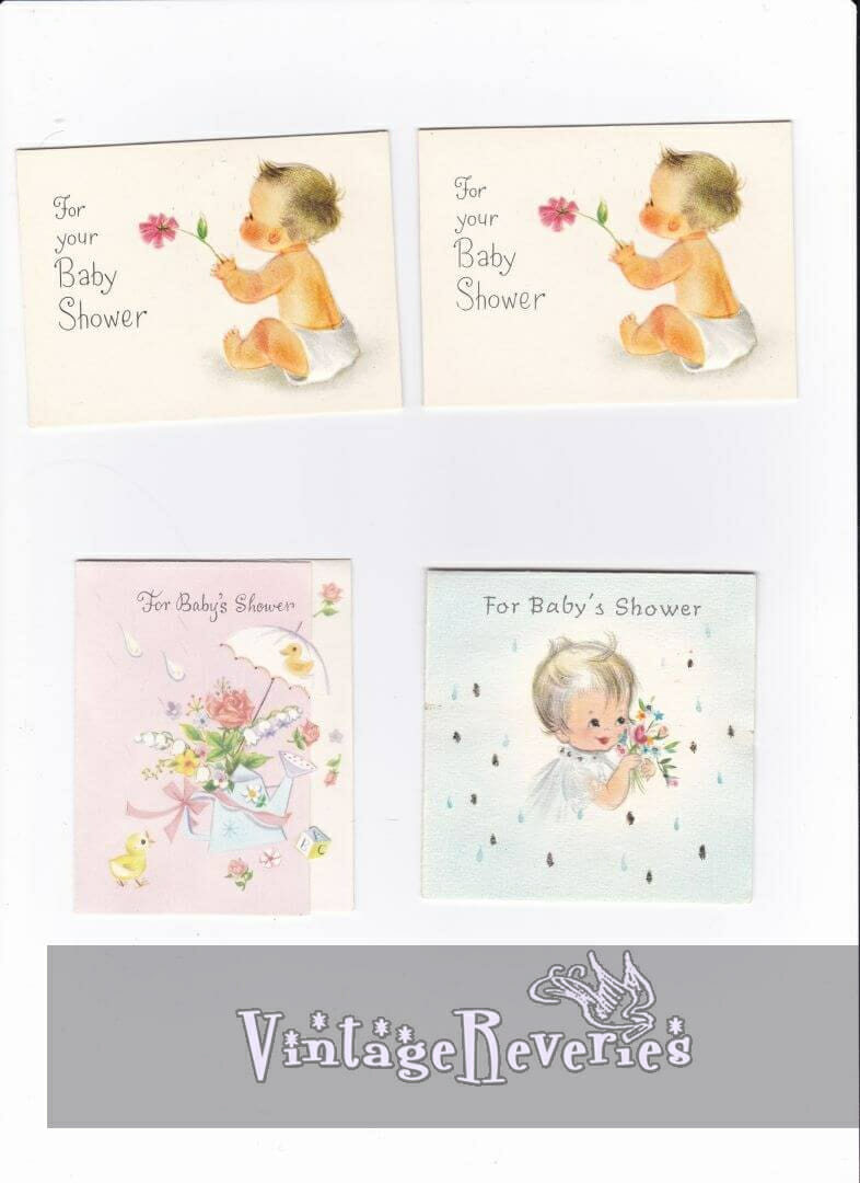 1960s baby shower card scans