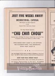 Chu Chin Chow at the Muny performance