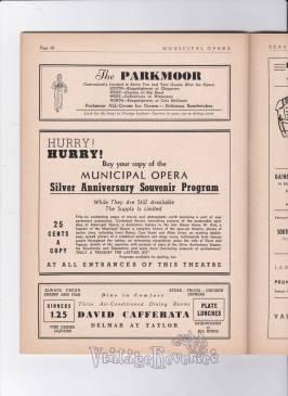 St. Louis Municipal Opera Silver Anniversary Celebration