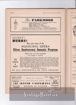St. Louis Municipal Opera Silver Anniversary Celebration