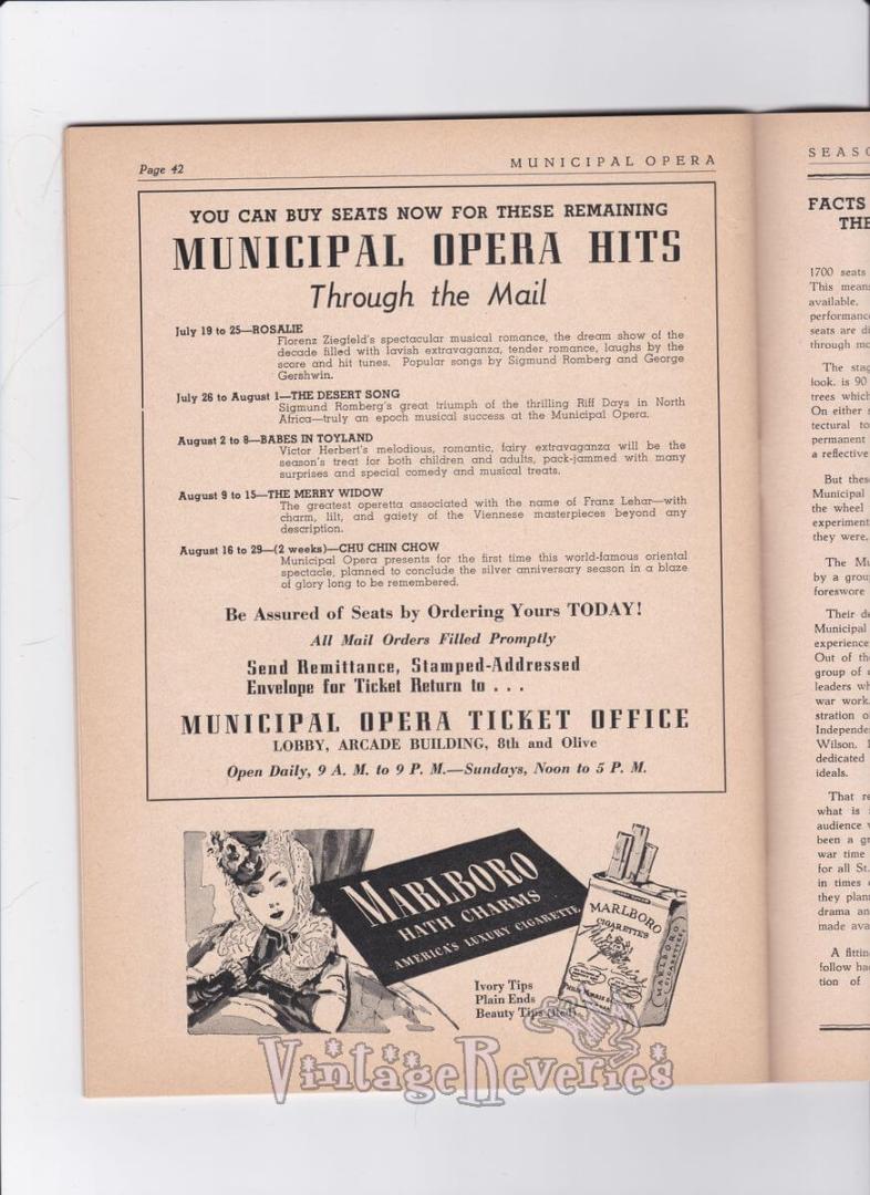 1940s Marlboro cigarette ad