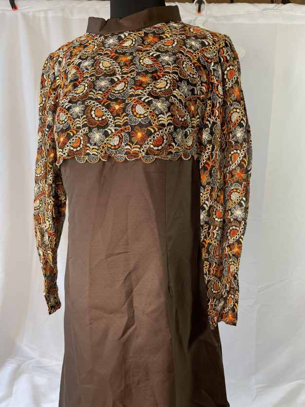 brown 1970s dress