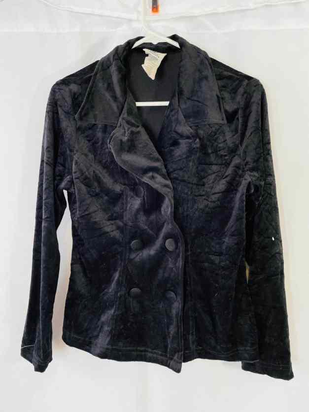 vintage black velvet Maggie Lawrence jacket