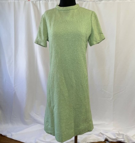 green 1960s shift dress large
