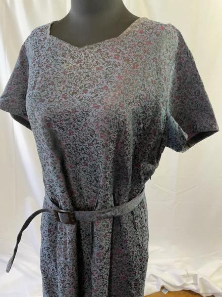 XL vintage 1950s sheath dress with original belt