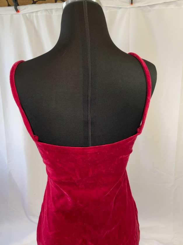 vintage red velvet minidress