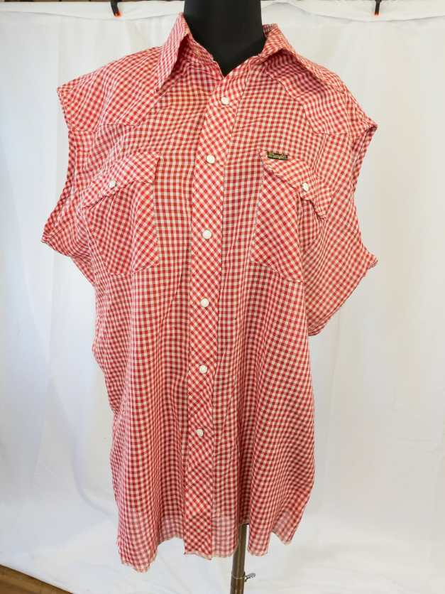 1980s Wrangler Snap-up Gingham Blouse
