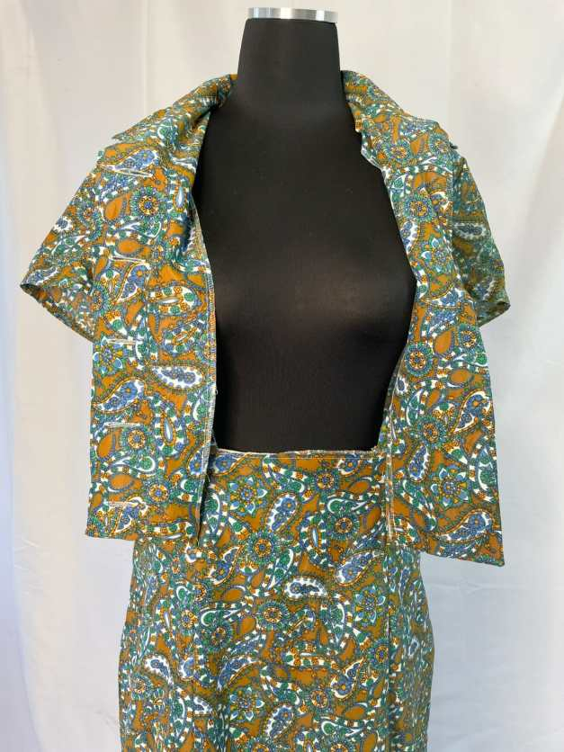 button up front paisley dress