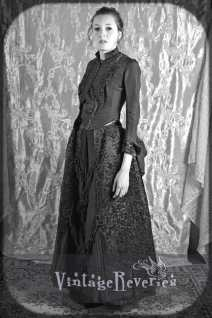 1880s dress with a bustle