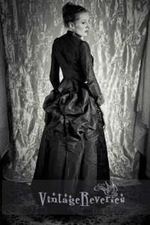 1880s dress with a bustle over photoshopped